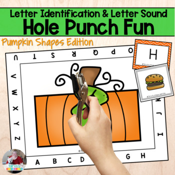 Letter Recognition and Sounds- Pumpkin Hole Punch