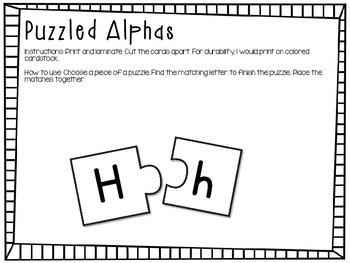Letter Recognition - Puzzled Alphas