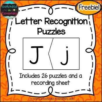 Letter Recognition Puzzles {Freebie!}