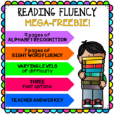 Letter & Reading Fluency [MEGA-FREEBIE!]