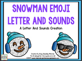 Snowman Emoji Beginning Letters & Sounds Recognition!