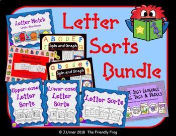 Letter Recognition Sorts Bundle
