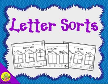 Letter Recognition Sorts: Cut and Paste