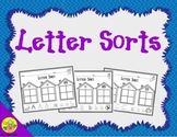 Letter Recognition Sorts: Cut and Paste | Distance Learning