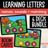 Letter Recognition, Sounds & Capital Lowercase Matching Boom Cards Fall Leaves