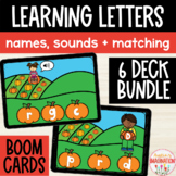 Letter Recognition, Sounds & Capital Lowercase Matching Boom Cards Pumpkin Patch
