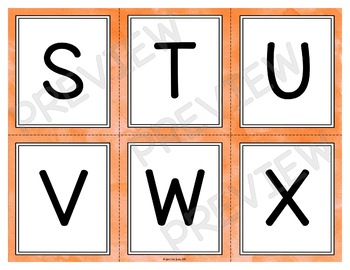 Letter Recognition Stack the Deck A Flashcard Activity for Uppercase Letters