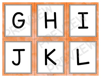 Letter Recognition Stack the Deck Bundle Upper and Lowercase Letters