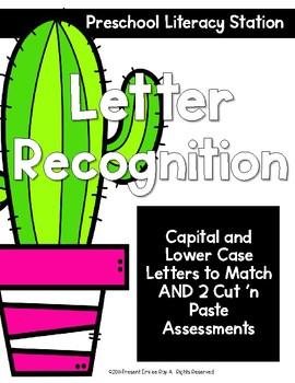 Letter Recognition Station & Assessment {Cactus}