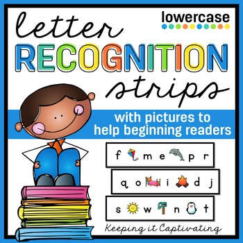 Letter Recognition Strips {with pictures}