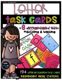 Letter Recognition Task Cards [Task Box]