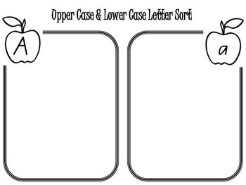 Letter Recognition Upper and Lower Case Letters