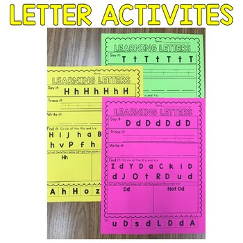 Letter Recognition Upper and Lowercase Activities for Special Education Students