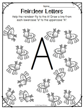 Letter Recognition Uppercase & Lowercase-Christmas Edition