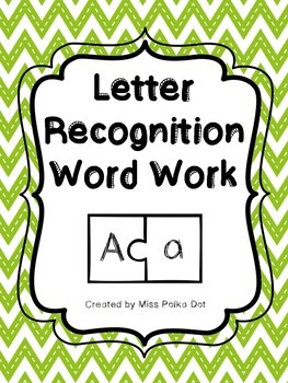 Letter Recognition Word Work