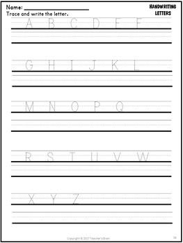 Letter Recognition Worksheets Center Activities for Pre K - Kindergarten