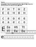 Letter Recognition Worksheets Ee