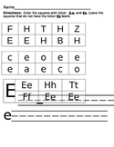 Letter Recognition Worksheets Ee