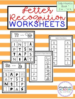 Letter Recognition Worksheets (Jolly Phonics Book 1)
