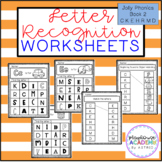 Letter Recognition Worksheets (Jolly Phonics Book 2)