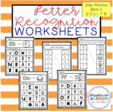 Letter Recognition Worksheets (Jolly Phonics Book 3)