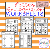 Letter Recognition Worksheets (Jolly Phonics Book 4-6)