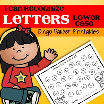 Letter Recognition Lower Case Bingo Daubers Preschool and Pre-K