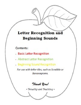 Letter Recognition and Beginning Sounds
