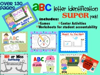 Letter Recognition and Identfication Super Pack - Great for RTI