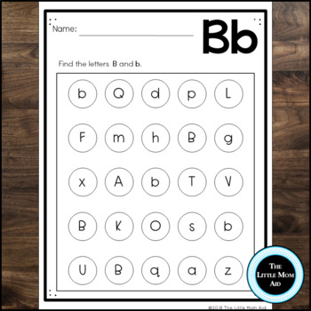 Alphabet Worksheets: Letter Recognition - Uppercase and Lowercase