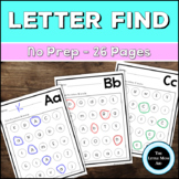 Alphabet Letter Find Worksheets: Uppercase and Lowercase