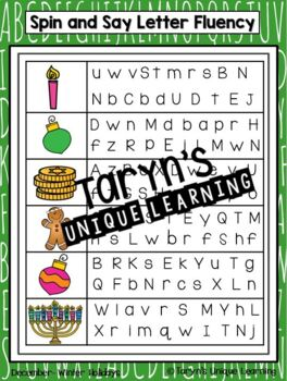 Letter Recognition and Letter Sound Fluency- December Edition