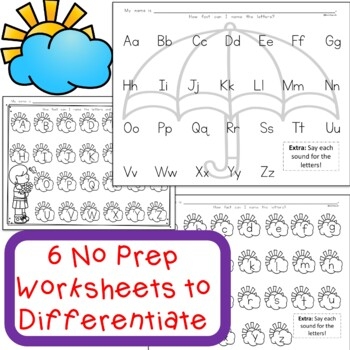 Letter Recognition and Letter Sound April Literacy Center