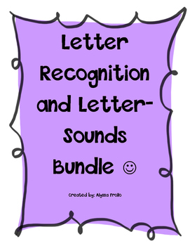 Letter Recognition and Letter Sounds Bundle