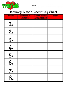 Letter Recognition and Letter Sounds Memory Match and Flash Cards