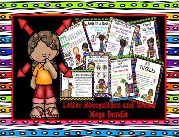 Letter Recognition and Sound MEGA BUNDLE:  Year-Long Centers