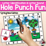 Letter Recognition and Sounds- Spring Time Hole Punch
