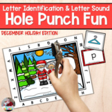 Letter Recognition and Sounds- Winter Holidays Hole Punch