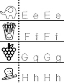 Letter Recognition and Writing Practice for Pre-K & K