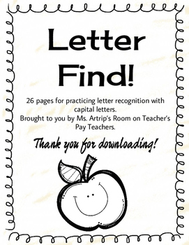 Letter Recognition - capital/uppercase letters