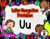 Letter Recognition for U - #DollarDeals - 10 pages   *s