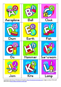 Letter Recognition mini flash cards