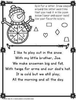 Letter Recognition with Poetry and Spinners