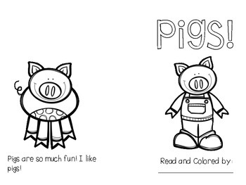 Pig Guided Reading {freebie}