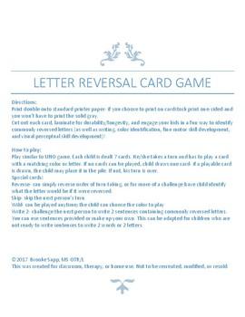 Letter Reversal Card Game