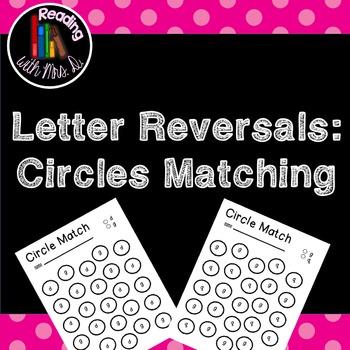 Letter Reversal Circle Matching