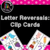 Letter Reversal Clip Cards