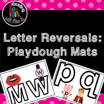 Letter Reversal Playdough Mats