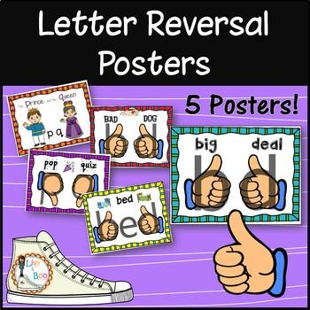 Letter Reversal Poster Pack  - b  d  -  p  q