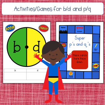 Letter Reversal Practice: b/d and p/q (Superhero Theme)